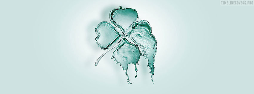 Wet St Patricks Day Facebook cover photo