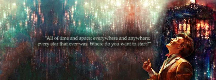Where Do You Want to Start Doctor Who Quote Facebook cover photo