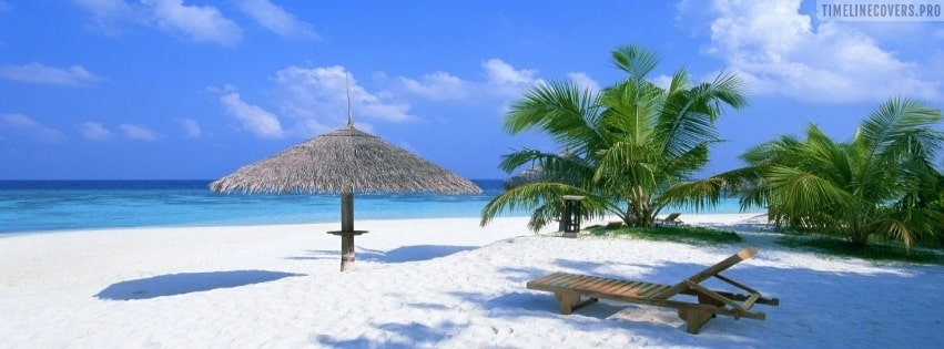 White Sanded Beach Facebook cover photo