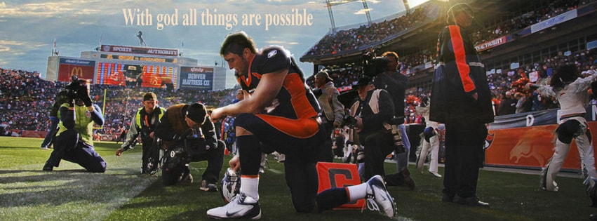 With God All The Things are Possible Tebow Facebook cover photo