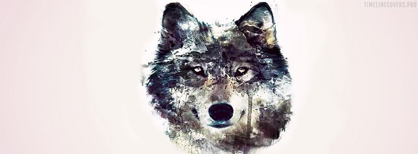 Wolf Artwork Facebook cover photo