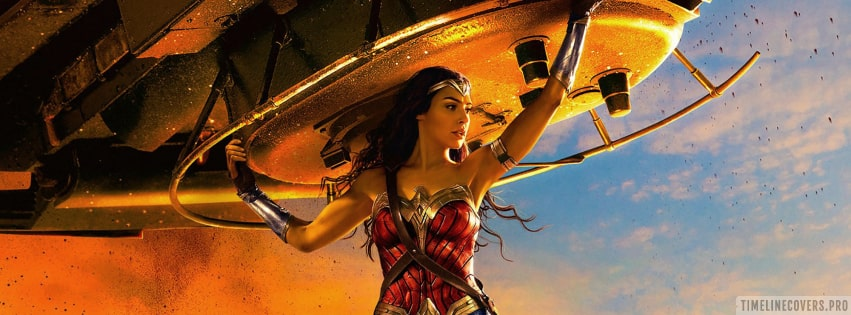 Wonder Woman Heavy Lifting Facebook cover photo