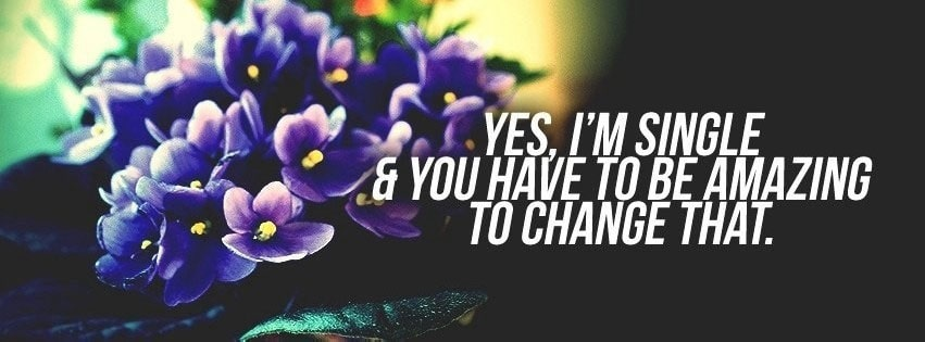 Yes Im Single Facebook cover photo