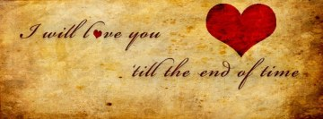 I will love you Facebook cover photo