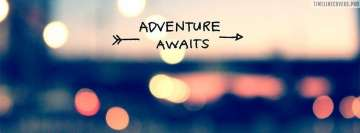 Adventure Awaits Facebook Wall Image
