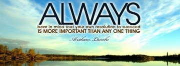 Always Abraham Lincoln Quote Facebook Cover