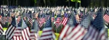 American Flags on Veterans Graves Memorial Day Facebook cover photo