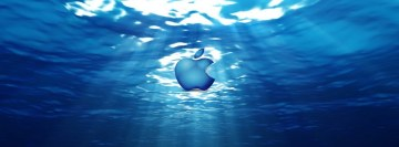 Apple Leopard Breathing Underwater Facebook Background TimeLine Cover