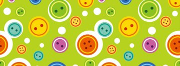 Colorful Buttons Facebook Cover