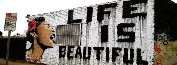 Life is Beautiful Graffiti Facebook cover photo
