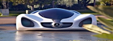 Mercedes Benz Luxury Future Car Design Facebook Cover