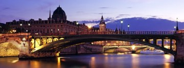 Paris The Seine River Facebook Wall Image