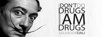 Salvador Dali Drugs Quote Facebook cover photo