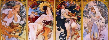 The Four Seasons Personified Alphonse Mucha Facebook Cover