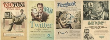 Vintage Youtube Twitter Fb Skype Facebook Wall Image
