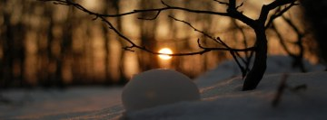 Winter Snow Sun Facebook cover photo
