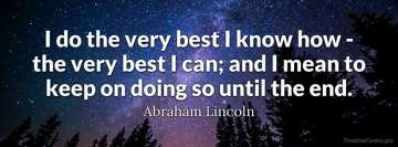 Abraham Lincoln Motivational Quote Facebook Cover