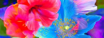 Abstract Flower Painting Hibiscus Anemone Facebook Cover