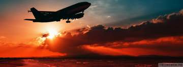 Aircraft in Red Sunbeams Facebook Cover-ups