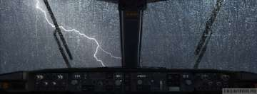 Aircraft View of a Storm from The Cockpit Facebook Cover Photo