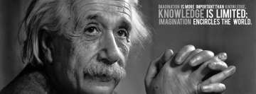 Albert Einstein Knowledge Facebook cover photo