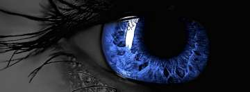Amazing Blue Eye Facebook Cover Photo