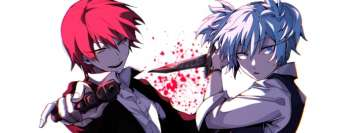 Anime Assassination Classroom Karma Akabane Nagisa Shiota Facebook Cover