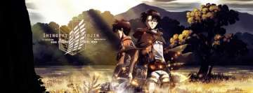Anime Attack on Titan Eren and Levi Facebook Cover-ups