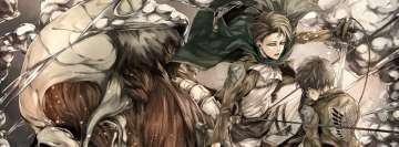 Anime Attack on Titan Eren Yeager Levi Ackerman Shingeki No Kyojin Facebook cover photo
