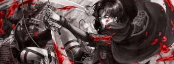 Anime Attack on Titan Shingeki No Kyojin Captain Levi Ackerman Facebook Cover Photo