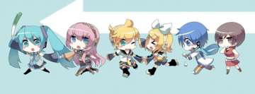 Anime Chibi Vocaloid Facebook cover photo