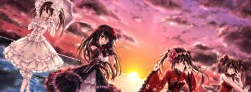Anime Date a Live Kurumi Tokisaki Sunset Facebook Background TimeLine Cover