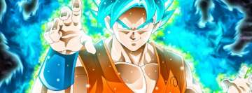 Anime Dragon Ball Super Blue Background Facebook Banner