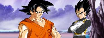 Anime Dragon Ball Super Goku and Vegeta Facebook Cover