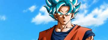 Anime Dragon Ball Super Ssgss Goku Blue Hair Facebook Cover-ups