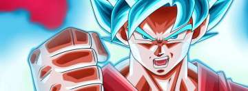 Anime Dragon Ball Super Ssgss Goku Facebook cover photo