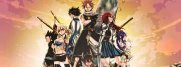 Anime Fairy Tail Charles Lucy Heartfilia Natsu Dragneel Facebook Cover
