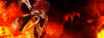 Anime Fairy Tail Natsu Dragneel Facebook Cover