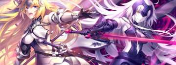 Anime Fate Grand Order Jeanne Darc Facebook cover photo
