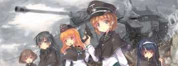 Anime Girls Und Panzer Facebook Cover Photo