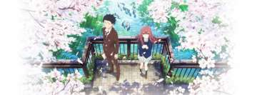 Anime Koe No Katachi Shouko Nishimiya Shouya Ishida Facebook Background TimeLine Cover