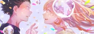 Anime Koe No Katachi Shouko Nishimiya Shouya Ishida Romantic Meeting Facebook Banner