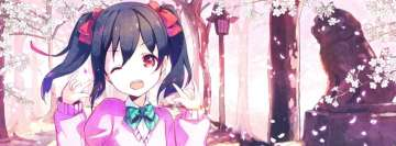 Anime Love Live Nico Yazawa Facebook cover photo