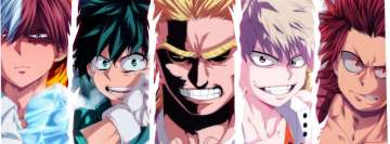 Anime My Hero Academia All Might Eijiro Kirishima Izuku Midoriya Katsuki Bakugou Shouto Todoroki Facebook Cover