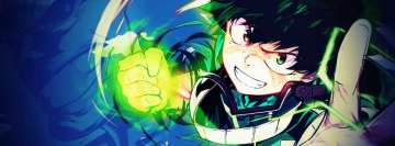 Anime My Hero Academia Deku The Future Symbol of Peace Facebook cover photo
