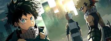 Anime My Hero Academia Izuku Midoriya Katsuki Bakugou Shouto Todoroki Facebook cover photo