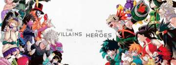 Anime My Hero Academia The Villains vs The Heroes Facebook Cover Photo