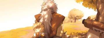 Anime Naruto Jiraiya and Naruto Uzumaki Facebook cover photo