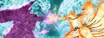 Anime Naruto vs Sasuke Facebook cover photo