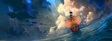 Anime One Piece Pirate Ship Facebook Wall Image